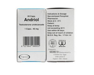 Buy Andriol 40mg (20 Caps) Testosterone Undecanoato for sale online